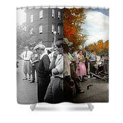 Car - Accident - Late For Tee Time 1932 - Side By Side Shower Curtain