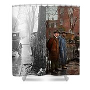 Car Accident - Watch For Ice 1921 - Side By Side Shower Curtain