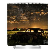 Car And The Milky Way Shower Curtain