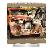Car Full Of Memories, Ghost Town, Jerome, Arizona Shower Curtain