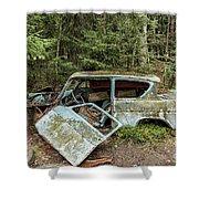 Car Graveyard In Smaland Shower Curtain