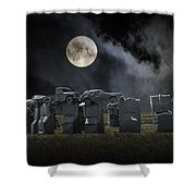 Car Henge Under The Moonlight Shower Curtain