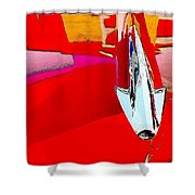 Car Hood Reflection Bump Map Shower Curtain