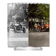Car - Race - Hold On To Your Hats 1915 - Side By Side Shower Curtain