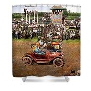 Car - Race - On The Edge Of Their Seats 1915 Shower Curtain
