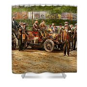 Car - Race - The End Of A Long Journey 1906 Shower Curtain
