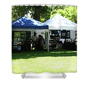 Car Show Booth 2011 Shower Curtain