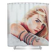 Cara Delevingne Shower Curtain