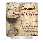 Caramel Spiced Coffee Shower Curtain