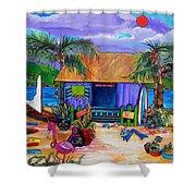 Cara's Island Time Shower Curtain by Patti Schermerhorn