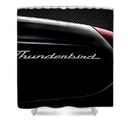 Carbon Black Thunder Shower Curtain