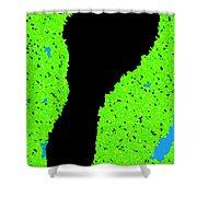 Carbon Footprint Shower Curtain