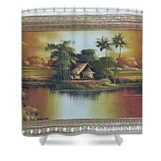 Carbon Free World Shower Curtain
