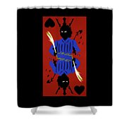 Card Hierarchy Jack Of Hearts Shower Curtain