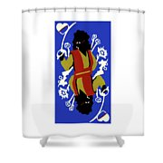 Card Hierarchy Queen Of Hearts Shower Curtain