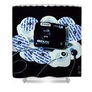 Cardiac Event Recorder Shower Curtain