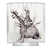 Cardiac Shunt Shower Curtain