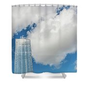 Cardiff Bay Water Tower Shower Curtain
