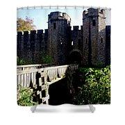Cardiff Castle Gate Shower Curtain