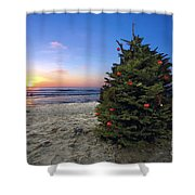 Cardiff Christmas Tree Shower Curtain