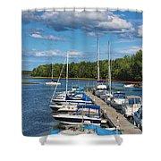 Cardigan Wharf Shower Curtain