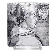 Cardinal Albrecht Of Brandenburg 1523 Shower Curtain