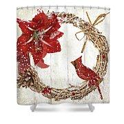 Cardinal Holiday II Shower Curtain