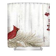 Cardinal Holiday IIi Shower Curtain