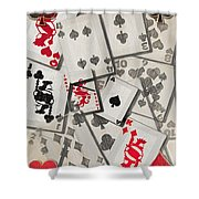 Cards Abstract Shower Curtain