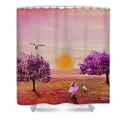 Carefree Childhood Days Shower Curtain