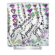 Caregivers Spread Joy Shower Curtain