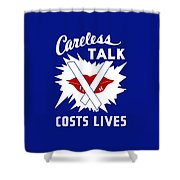 Careless Talk Costs Lives  Shower Curtain by War Is Hell Store