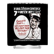 Carelessness Causes Fires Shower Curtain