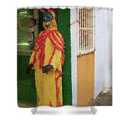 Careta Hombre Shower Curtain