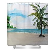 Caribbean Beach Shower Curtain