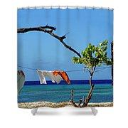 Caribbean Blues 3 Shower Curtain