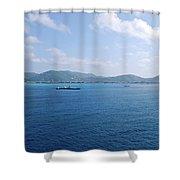 Caribbean Coastline Shower Curtain