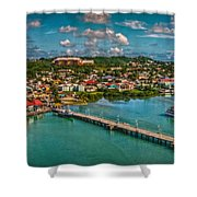 Caribbean Color Palette Shower Curtain