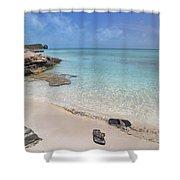 Caribbean Flippin Flops Shower Curtain