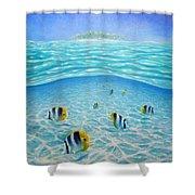 Caribbean Island Dream Shower Curtain