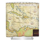 Caribbean Map II Shower Curtain