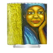 Caribbean Mystery Lady Shower Curtain
