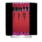 Caribbean Pink Shower Curtain