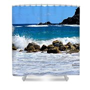 Caribbean Pounding Surf Shower Curtain
