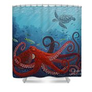 Caribbean Reef Octopus Shower Curtain