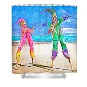 Caribbean Scenes - Moko Jumbie Shower Curtain