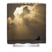 Caribbean Skies And Light 2 Shower Curtain