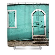 Caribbean Storefront Shower Curtain