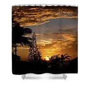 Caribbean Sunset Shower Curtain
