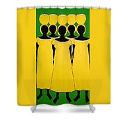 Caribbean Yellow Shower Curtain